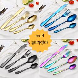 24-Piece Silverware Set Stainless Steel Perfect for Kitchen