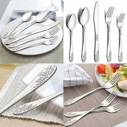 40 PC Silverware Flatware Cutlery Set For 8 Stainless Steel