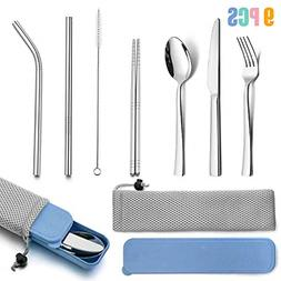 Portable Travel Utensils with Case, HaWare Stainless Steel S